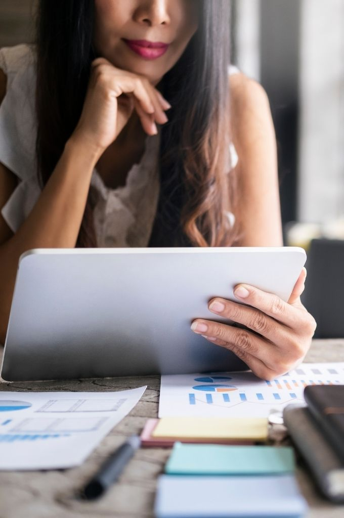 Women considering different investments